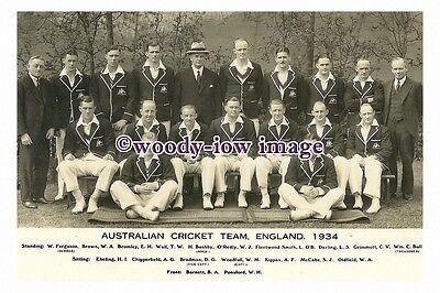 rp13994 - Australian Cricket Team 1934 - photograph