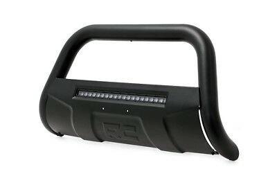 """Rough Country Black Bull Bar w/Integrated 20"""" LED Bar, 1997-2003 Ford F150"""