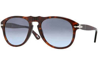 Persol Men's Tortoise Classic Sunglasses, Havana/Crystal Sky Gradient, Brown, P Crystal Brown Gradient Sunglasses