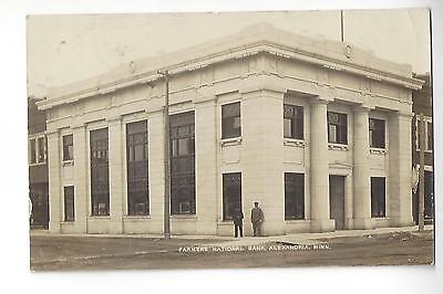 1910 Alexandria  Minnesota  Farmers National Bank Rppc
