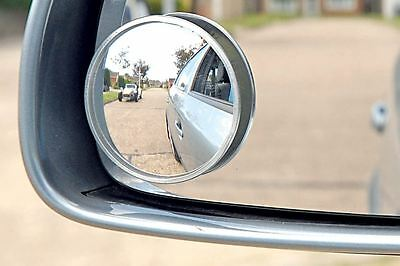 """Car Parts - 2x SUMMIT BLIND SPOT MIRROR ROUND ADHESIVE 2"""" INCH EASY FIT WIDE VIEW ANGLE VAN"""
