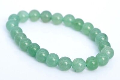 8MM Parsley Bunch Aventurine Bracelet Grade AAA Genuine Natural Round Beads 7""