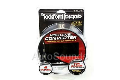 Rockford Fosgate RF-HLC4 4-Channel High to Low Level HI LO Signal Converter
