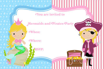 Pirate and Mermaid Birthday Party Invites MP3
