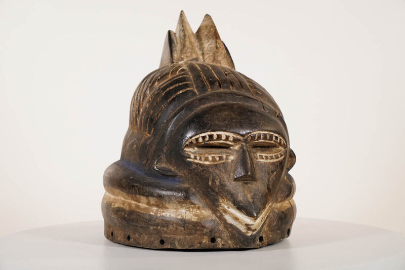 """Mende Inspired Helmet Mask 14"""" - Sierra Leone - African Art"""