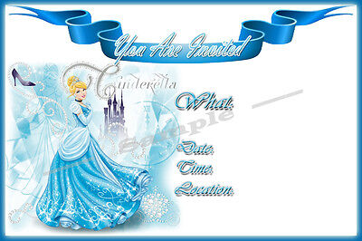 Cinderella Party Invitations with matching envelopes, birthday, princess, 12pack - Cinderella Birthday Invitations