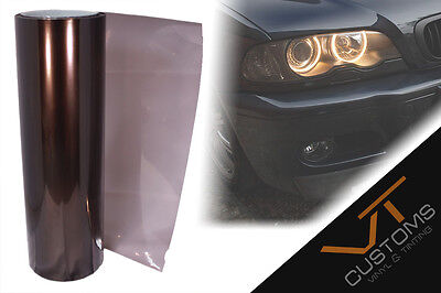 30cm x 100cm Light Smoke Black Tint Film Headlights Tail lights Car Vinyl Wrap