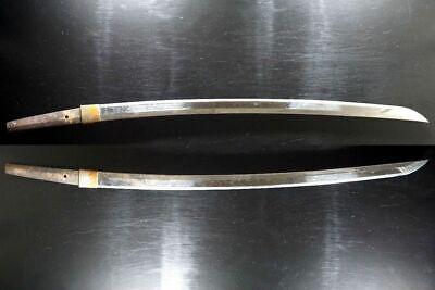 Sturdy Blade: Antique Japanese Samurai Katana Sword Nihonto 79.3cm Long