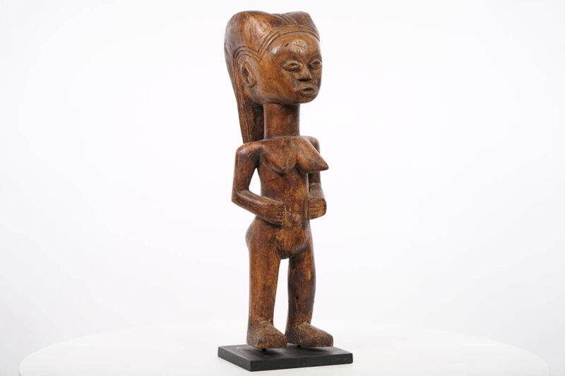 "Elegant Female Kwere Statue 16"" on Base - Tanzania - African Ar"