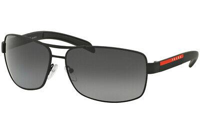 Prada Sport Linea Rossa Sonnenbrille PS54IS DG05W1 Schwarz Gummi Polarized Grau
