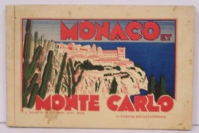 Vintage Post Card Folder Monaco Monte Carlo 15 Unposted Views 1920s