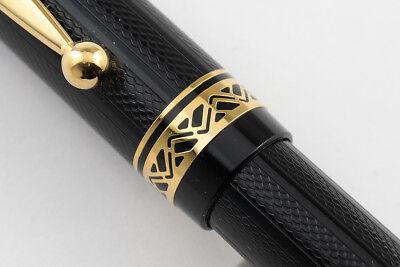Namiki Black Herringbone Fountain Pen - Medium Nib