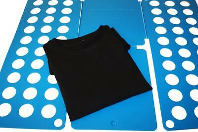 T-Shirt Folder Wäschefalter Faltbrett Hemdenfalter Falthilfe, blau, 59 cm, NEU