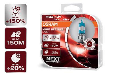 Mit Extra Licht Mini (OSRAM Night Breaker® LASER NEXT GENERATION HB3 Sockel +150% mehr Sicht DuoBox)