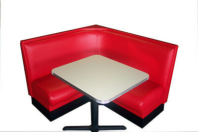 NEW DINER BOOTH SET - L Shape with Metal Trim Table! for sale  Tucker