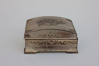 Altes versilbertes Zigaretten-Kästchen, Japan, 20.Jahrhundert