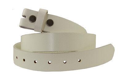 (BS100 One Piece Genuine Leather Belt Strap, 1-1/4