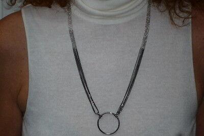 NEW La Loop Duo Sterling Silver Designer Eyeglass Holder Chain Necklace $ 580
