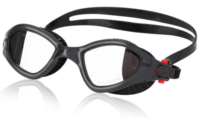 Speedo FIT MDR 2.4 Polarized Fitness Goggle - Elastomeric, Speedo Black