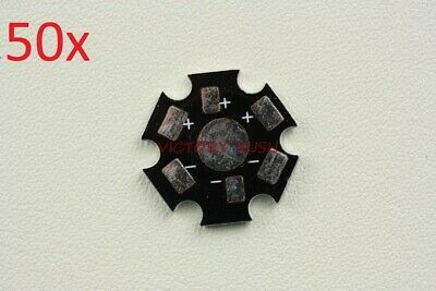 50x Led Heatsink Aluminum Base Star Plate Pcb Bead 1w 3w Usa