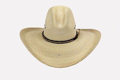 Big 5  Brim   Western Cowboy Hat   Mexican Palm Leaf Straw   Wide Gus   Quigley