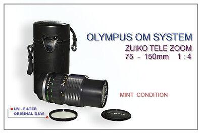 OLYMPUS OM 75 - 150mm 1:4 ZUIKO ZOOM TELE - MINT