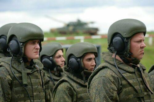 Russian Ratnik 6B48 APC crew helmet with working headset