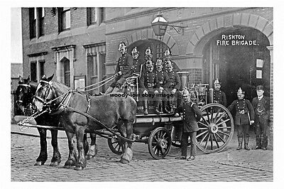 pt3147 - Rishton Fire Brigade & Station , Lancashire - photo 6x4