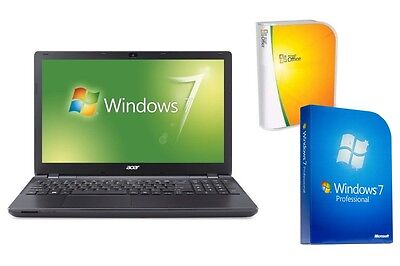 LAPTOP ACER 2519 - 500GB - 8GB RAM - WINDOWS 7 PRO - USB 3.0 - 15.6  MATTES TFT