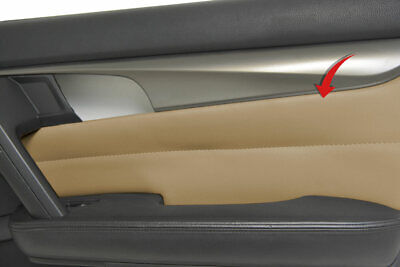Insert Door Panel Cover Skin PVC Synthetic Leather for Acura TL 2009-2014 Beige