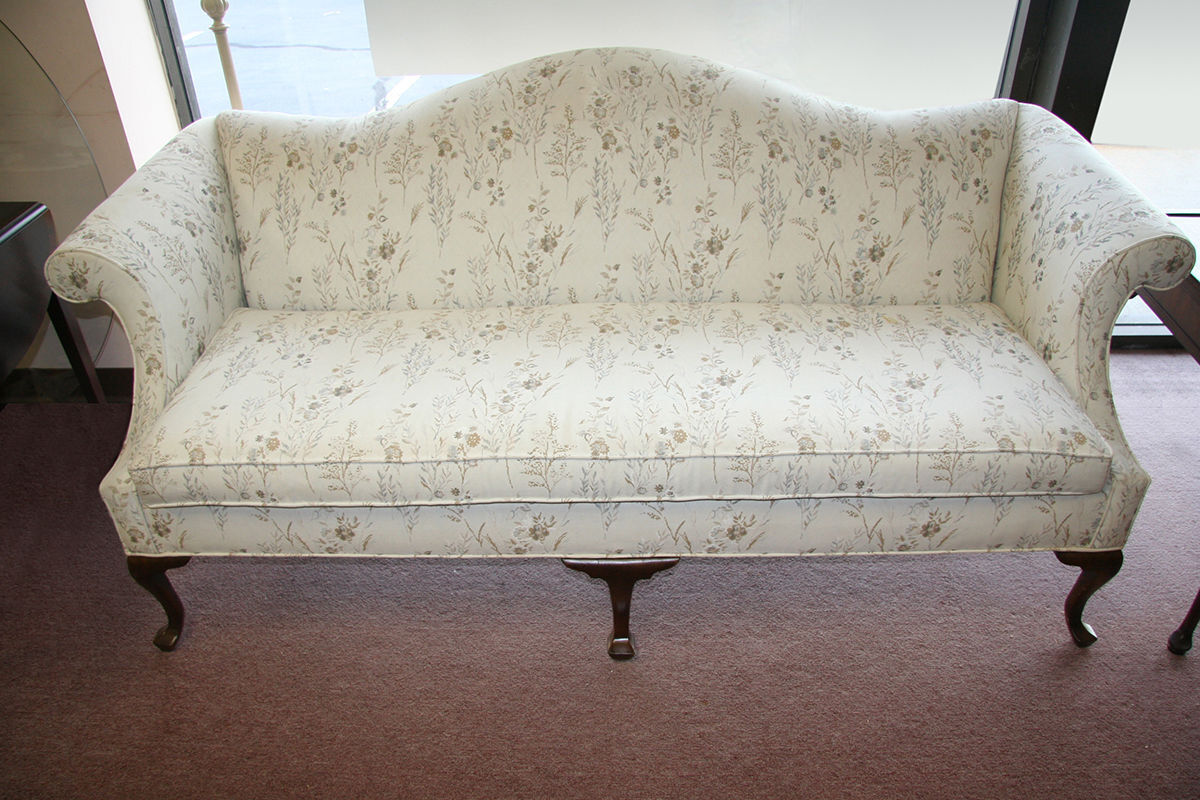 How to reupholster a queen anne sofa ebay Reupholster loveseat