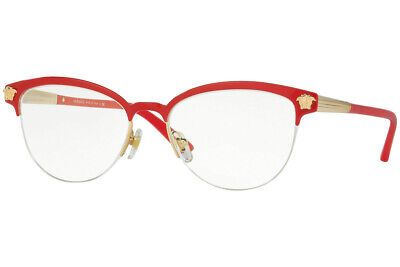 Authentic VERSACE VE1235 - 1376 Eyeglasses Red / Gold *NEW*  53mm