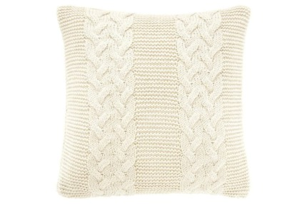 2 x NEW Sheridan Whitwell Cable Knit Cushions in Natural RRP $120