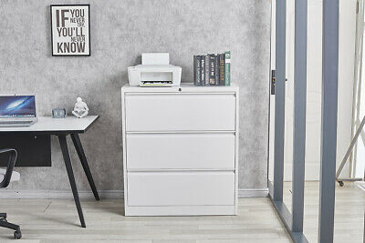 Home Office 3 Drawers File Cabinet Metal Storage With Locking Lateral Cabinet