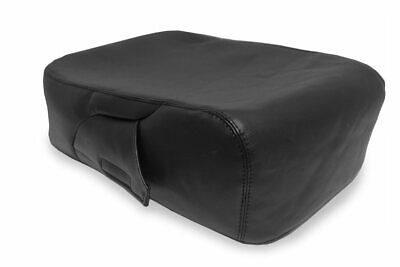 Console Lid Jump Seat Cover PVC Leather for Chevrolet Silverado 2007-2013 Black
