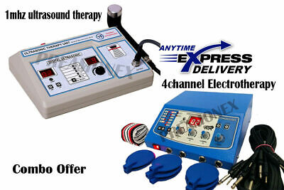 Ultrasound Therapy 1 Mhz Electrotherapy 4 Channel Combo Light Weight Unit Vthc