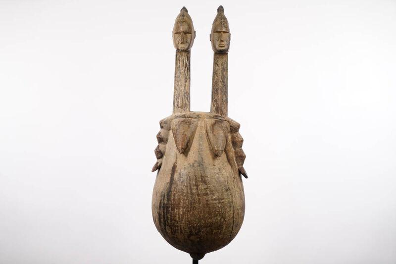 "African Fantasy Belly Mask 34.5"" - Sub-Sahara - African Art"