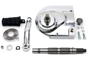 Kick-Starter-Conversion-Kit-Fits-Sportster-XL-039-91-03-Incl-Chrome-Sprocket-Cover