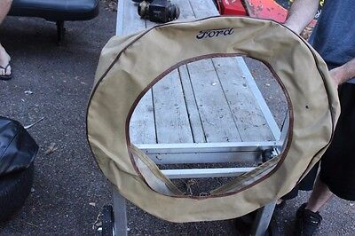 Ford Model T Spare Tire Holder Cover Black Great Condition