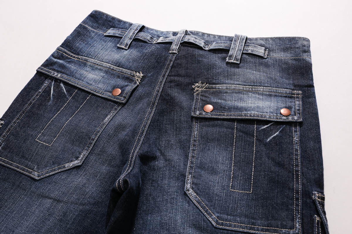 6ec47ae0 ... FOX JEANS Men's Monroe Regular Fit Straight Blue Denim Mens Cargo Jeans  SIZE 40 фото