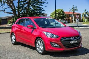 2014 Hyundai i30 GD2 MY14 Trophy Brilliant Red 6 Speed Sports Automatic Hatchback Port Macquarie Port Macquarie City Preview