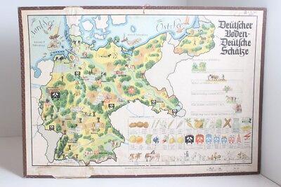 Old Schulwandtafel Wall Chart German Base German Treasures Schulmann No. 223