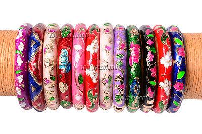 Enamel Childrens Bangle (5pcs Vintage Enamel Cloisonne Bangle charm Bracelet Fit Kids Children Dia 50mm )