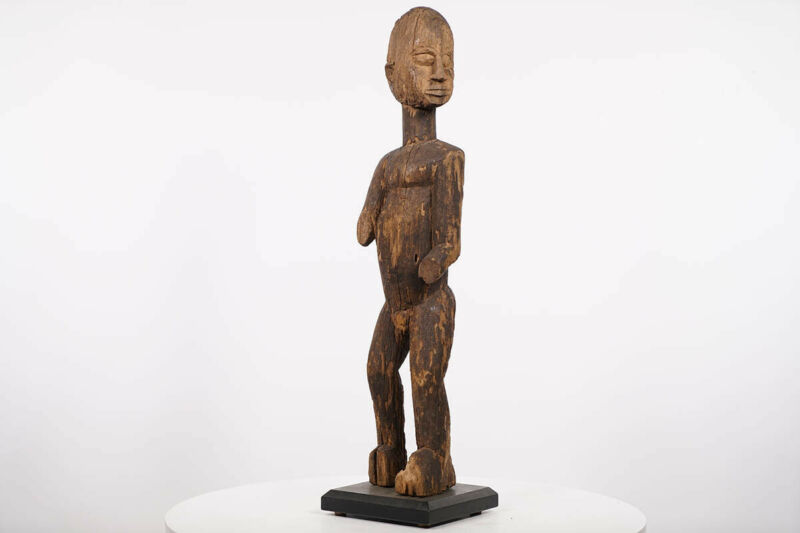 "Timeworn Lobi Statue on Custom Base 25"" - Burkina Faso - African Art"