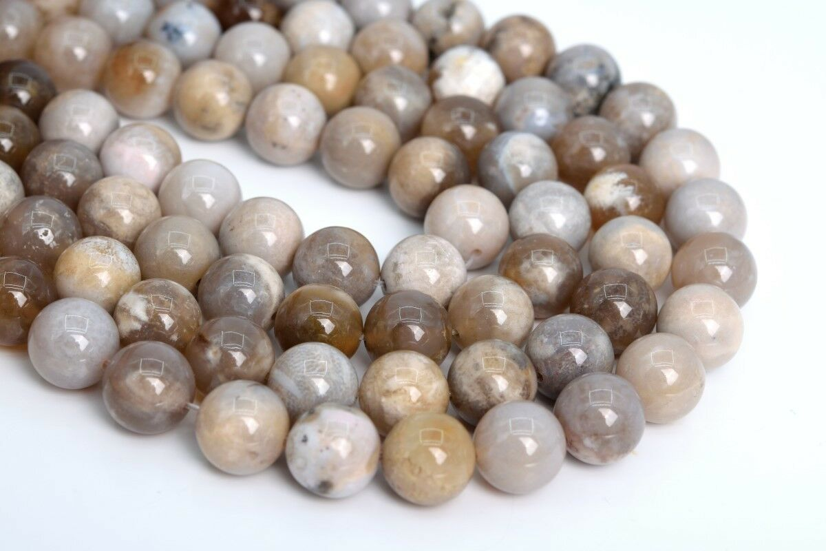 108923 6x4MM Ocean Fossil Agate Beads Grade AAA Genuine Natural Faceted Rondelle Gemstone Loose Beads 87  42 Pcs
