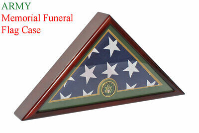Army Flag Display Case Box, 5'x9.5' Burial - Funeral - Veteran Flag -