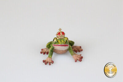 Viennese Bronze Frog King Small Collector's Figurine Original Fritz Bermann