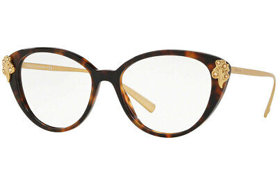 Authentic VERSACE VE3262B - 5267 Eyeglasses Havana *NEW*  54mm