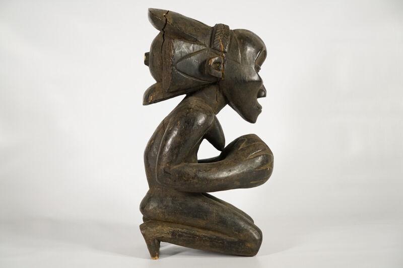 "Master of Buli Inspired Luba Statue 18"" - DRC - African Art"