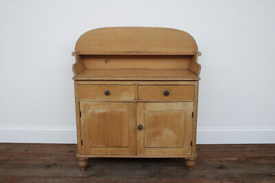 Antique Victorian pine cupboard with drawers